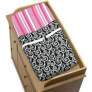 Pink and Black Madison Girls Baby Changing Pad Cover Baby