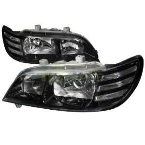 1997 1999 Acura CL Euro Headlights Black Housing