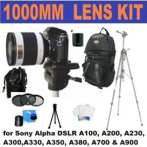 Teleconverter (1000mm)+ 3 Piece Lens Filter Kit + Deluxe 65 Camera