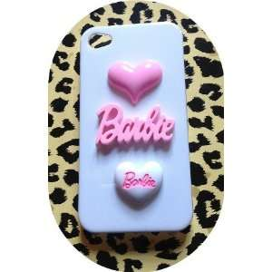 Pink Barbie Love Heart Kawaii Deco Hearts Iphone 4 /4s