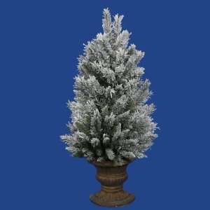 3 x 24 Flocked Sugar Pine Half Christmas Wall Tree w