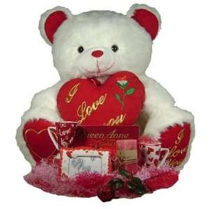 Valentine Super Gift Set   40 Teddy Bear with 2 Cups, Frame, Candy