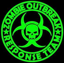 Zombie Outbreak Response Team LARGE Vinyl Sticker Decal