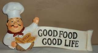 FAT CHEF WALL ART PLAQUE~SIGN~BAR~COOK~GOOD FOOD~BREAD