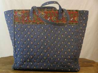 VERA BRADLEY French Blue Travel TOTE PURSE Retired