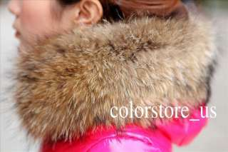 2011 Womens Winter Warm Wrap Fur Collar Slim 90% Duck Thick Down Parka