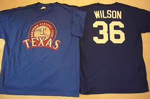 1623 Mens MAJESTIC Texas Rangers CJ WILSON Baseball Jersey Shirt Royal