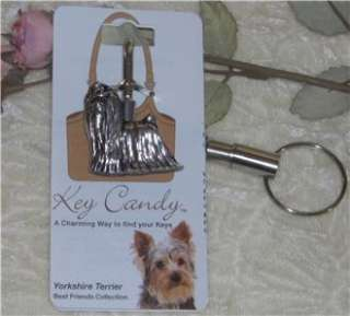 YORKIE YORKSHIRE TERRIER DOG KEY FINDER PURSE HOOK