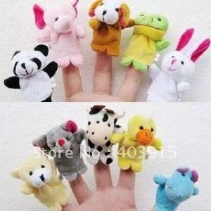 1000pcs/lot animal finger puppet finger doll baby doll