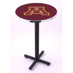 Minnesota Golden Gophers Round Pub Table With Black Base