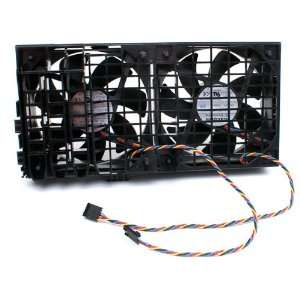 Genuine Dell DC 12V 4 Wire 5 pin Dual Cooling Fan Assembly