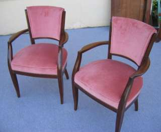 Pair of French Art Deco Bridge Chairs