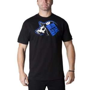 Metal Mulisha Blockbuster Mens Short Sleeve Casual Shirt   Black/Blue