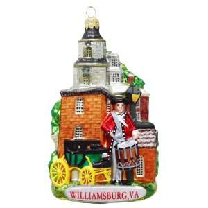 Kurt Adler C4107 Williamsburg, VA Glass Cityscape Ornament, 5 Inch