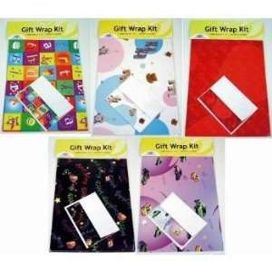 New   Assorted Gift Wrap Kits with Gift Card Case Pack 100