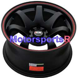 16 8 XXR 522 Black Red Stripe Concave Rims Wheels Stance 90 91 00 05