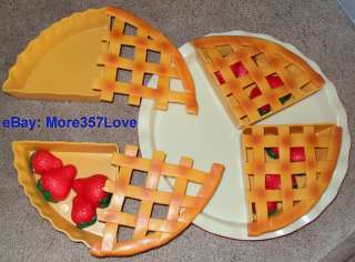 STRAWBERRY PIE FAKE FOOD CAKE PLAY KITCHEN TOY+DRIED ROSE FRESH FLOWER