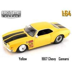 Jada Dub City Big Time Muscle Yellow Racing 1967 Chevy Camaro 164