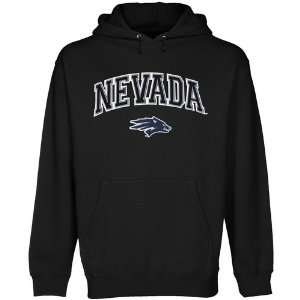 NCAA Nevada Wolf Pack Black Logo Arch Applique Midweight