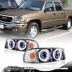 2001 2006 GMC SIERRA DENALI PROJECTOR CHROME HEADLIGHT+BUMPER