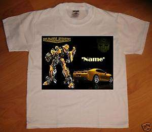 Transformers  Bumblebee Car Personalized T Shirt  NEW