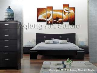 HUGE CANVAS WALL ART MODERN ABSTRACT PAINTINGS OF LILY FLOWER