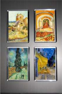 Gift Boxed Set of 4 Fridge Magnets Art Vincent Van Gogh
