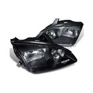 Euro Headlights   Black 05 07 Ford Focus 4 or 5 Door