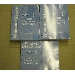 2010 Ford Expedition Navigator Service Shop Manual Set (two volume set