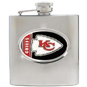NIB Kansas City Chiefs NFL 6oz Stainless Hip Flask Sports