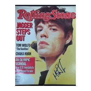 Signed Jagger, Mick Rolling Stone Magazine 2/14/85 Sports