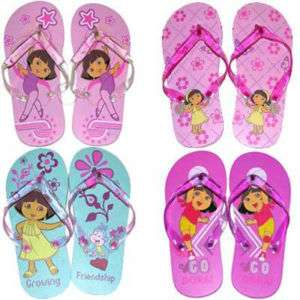 DORA EXPLORER Kid Girl THONG FLIP FLOPS BEACH SANDALS