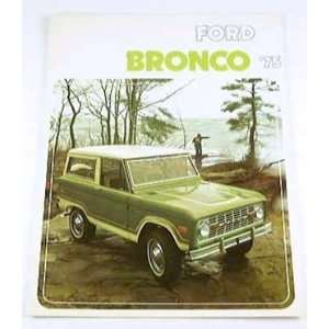 1975 75 Ford BRONCO Truck SUV BROCHURE 4wd Sport
