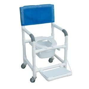 Standard Deluxe Shower Chair with Folding Footrest and
