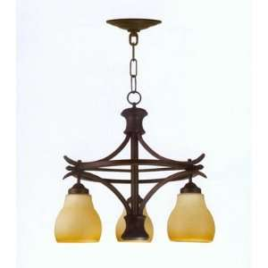 Bandera 3 Light Aged Bronze Chandelier