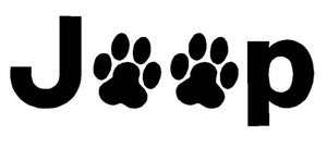 JEEP Wrangler Dog Cat PAW PRINTS Decal Sticker You pick COLOR window