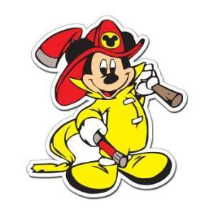 MICKEY MOUSE FIREMAN   Disney   Sticker Decal   #S228