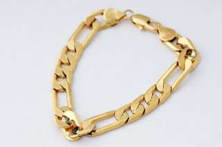20g 18K Solid Yellow Gold Filled Mens Bracelet Chain B10