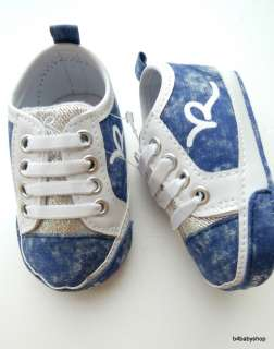 Baby boy girl denim RocaWear sneakers shoes NWOT(0 12M)