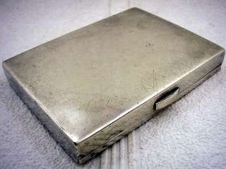 1900s ART DECO STERLING SILVER CIGARETTE CASE LEV TOLSTOY