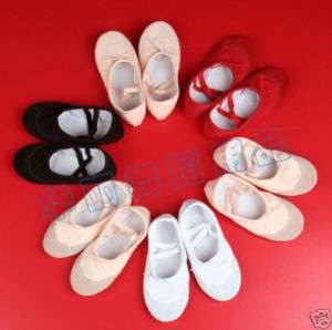 NEW Black Girls Ballet Shoes Dance Slippers U.S. Size 9