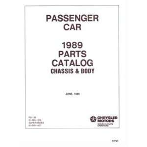 1989 MOPAR CHRYSLER DODGE DESOTO PLYMOUTH Parts Book CD Automotive