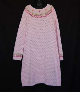 Fall Forest Pink Sweater Dress size 10 Child Girl Winter Clothes