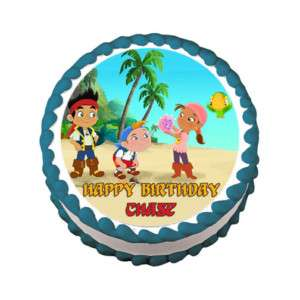 JAKE AND THE NEVERLAND PIRATE Edible Cake Topper Party