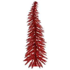 4 Pre Lit Red Whimsical Christmas Tree