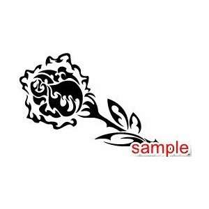 FLOWERS AND PLANTS FLAMING ROSE 10 WHITE VINYL DECAL