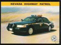 NEVADA STATE POLICE HIGHWAY PATROL TROOPERS Car Card NV