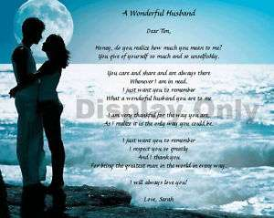 Personalized Love Poem Gift For Husband