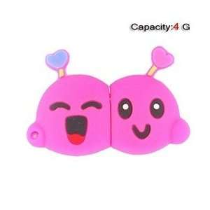 4GB Lovely Cartoon Shape Flash Drive (Pink) Electronics