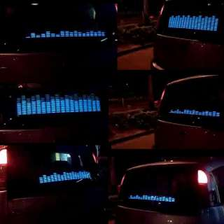Car Stickers Sound music Activated/equalizer glow light